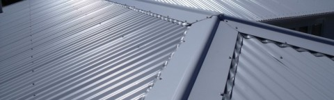 Color steel corrugated roof.
